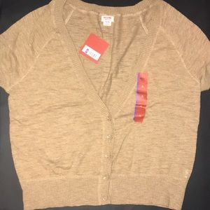 NEW: XL Short Sleeve TAN Cardigan Mossimo